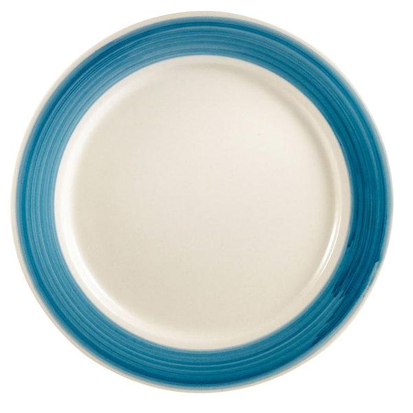 "CAC R-7BLU Rainbow Plate 7 1/4"" - Blue - 36/Case Main Image 1"