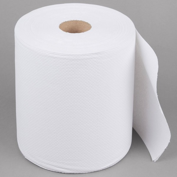 lavex janitorial 2 ply white center pull economy paper towel 600