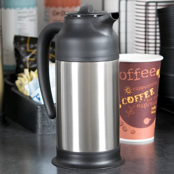 Choice 24 oz. Stainless Steel Insulated Carafe / Server Main Image 4