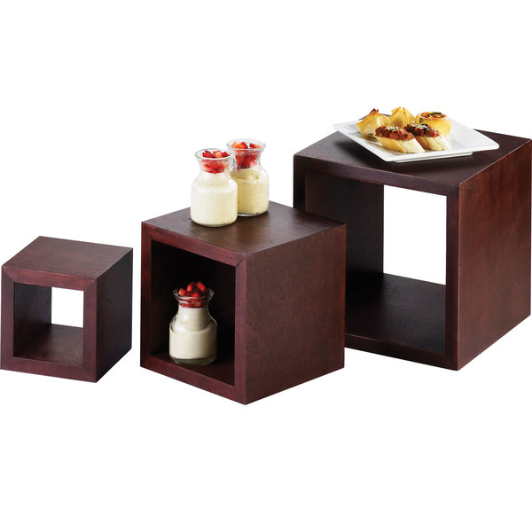 """Cal-Mil 1915 5"""", 7"""", and 9"""" Westport Wooden Cube Riser Set Main Image 1"""