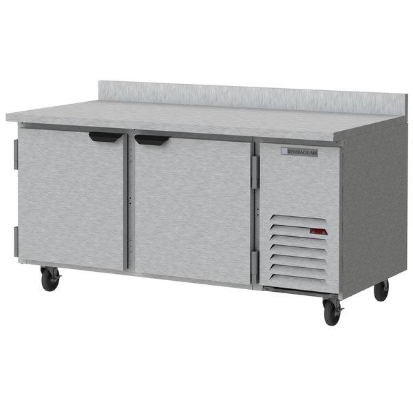 "Beverage-Air WTR67AHC 67"" Two Door Worktop Refrigerator Main Image 1"