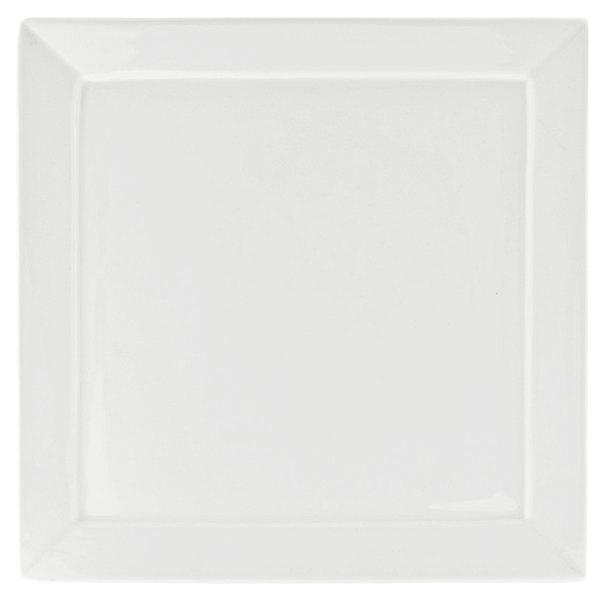 10 Strawberry Street WEL-11SQ Whittier Elite 10 1/4 inch White Square Porcelain Plate  - 24/Case