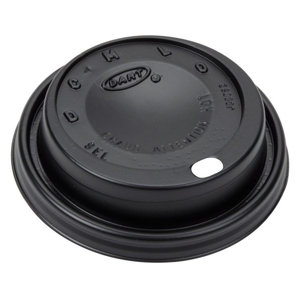 Dart 8ELBLK Black Travel Lid - 1000/Case Main Image 1