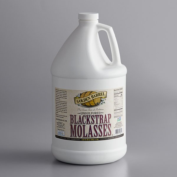 Golden Barrel 1 Gallon Sulfur-Free Blackstrap Molasses - 4/Case Main Image 1