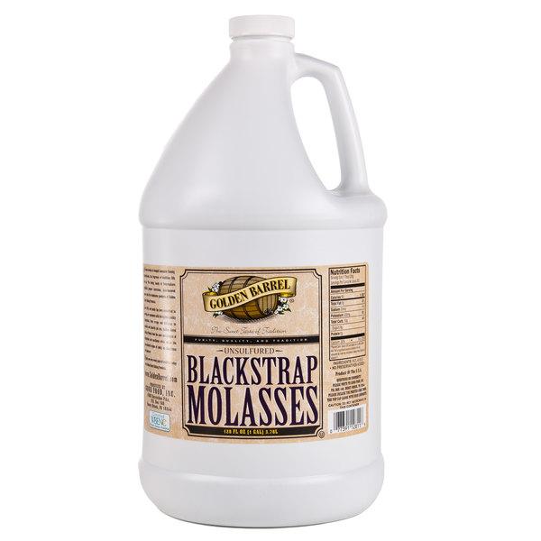 Golden Barrel 1 Gallon Sulfur-Free Blackstrap Molasses - 4/Case