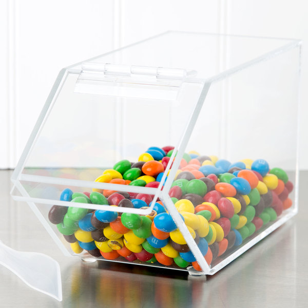 """Cal-Mil 492 Classic Stackable Acrylic Topping Bin - 4 1/2"""" x 11"""" x 5 1/2"""""""