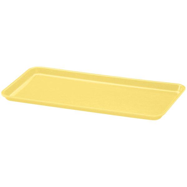 "Cambro 918MT145 9"" x 18"" Yellow Fiberglass Market Tray - 12/Case"