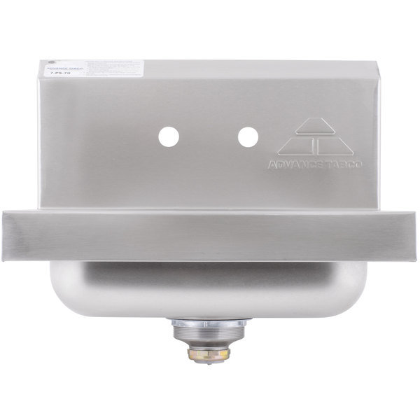 """Advance Tabco 7-PS-70 Hand Sink with Two Splash Faucet Holes - 17"""" x 15"""" Main Image 1"""