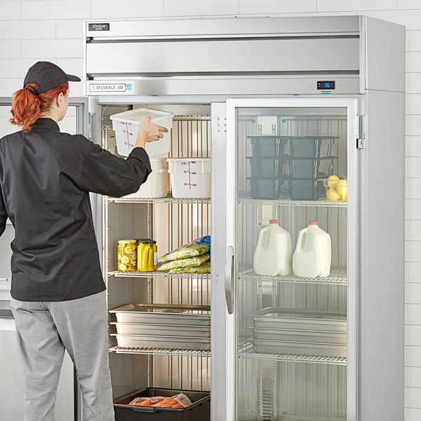 "Beverage-Air HR2-1G Horizon Series 52"" Top Mounted Glass Door Reach-In Refrigerator Main Image 4"