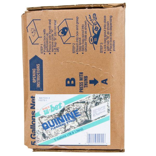 Fox's Bag In Box Tonic Beverage / Soda Syrup - 5 Gallon