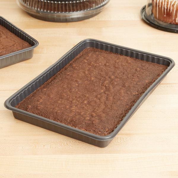 """Genpak 55514 Bake N' Show 13"""" x 9"""" Dual Ovenable Quarter Sheet Baking / Cake Pan - 100/Case Main Image 7"""