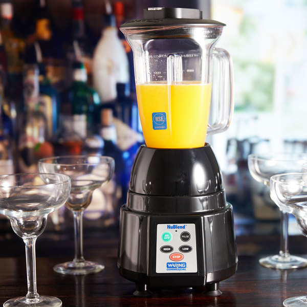 Waring Bb185 Nublend 2 Sd Commercial Bar Blender With Copolyester Container And Electronic Touchpad 44 Oz