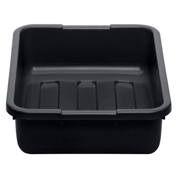 "Cambro 21155CBP110 Cambox 21"" x 15"" x 5"" Black Polyethylene Plastic Bus Box with Ribbed Bottom"