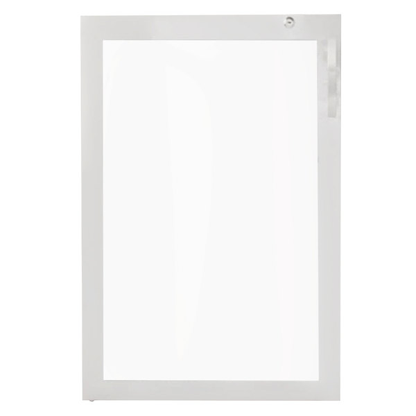 Avantco 17817353 Left Hinged Glass Door with Stainless Steel Frame Main Image 1