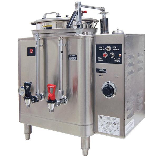 Grindmaster 7413E Single Midline 3 Gallon Fresh Water Coffee Urn - 120/208/240V 1 Phase Main Image 1