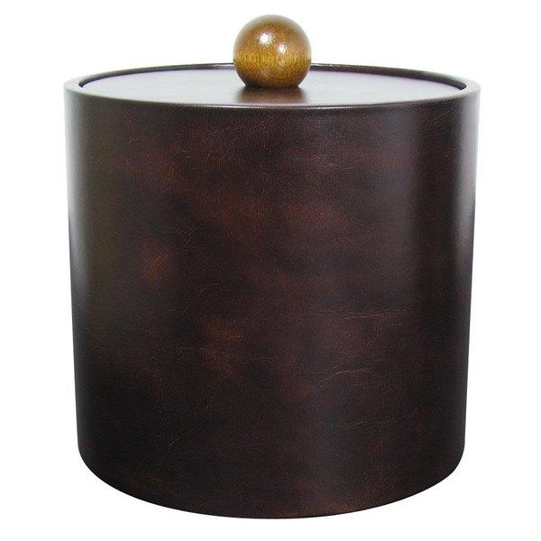 3 Qt. Dark Brown Vinyl Insulated Ice Bucket Main Image 1