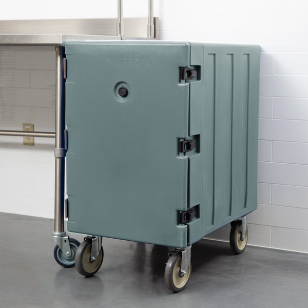 "Cambro 1826LBC401 Camcart Slate Blue Single Compartment Mobile Cart for 18"" x 26"" Food Storage Boxes Main Image 5"