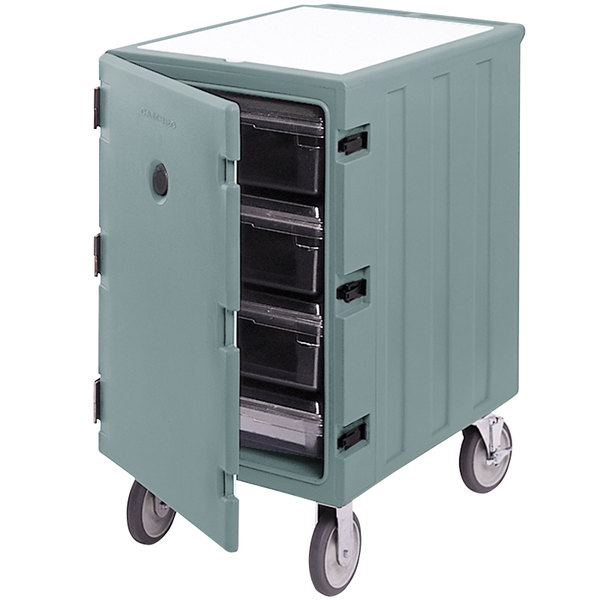 """Cambro 1826LBC401 Camcart Slate Blue Single Compartment Mobile Cart for 18"""" x 26"""" Food Storage Boxes"""