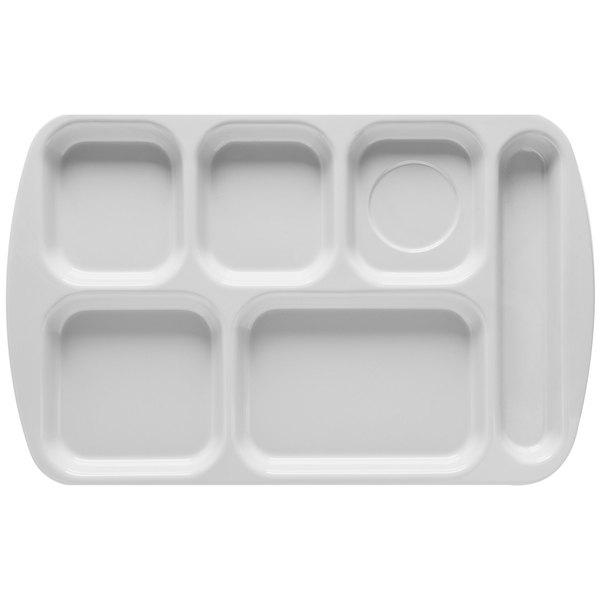GET TR-151 White Melamine 10\  x 15 1/2\  Right Hand 6 Compartment Tray - 12/Pack  sc 1 st  WebstaurantStore & GET TR-151 White Melamine 10\