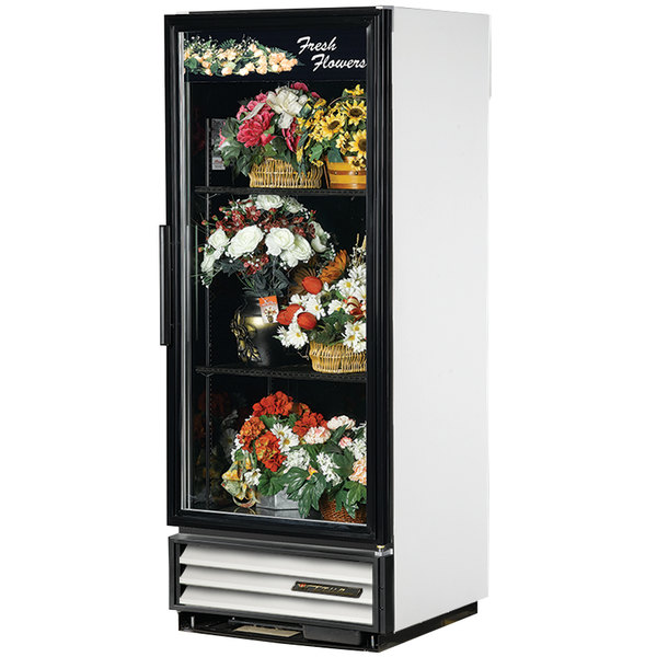 True GDM-12FC-LD White Glass Door Floral Case