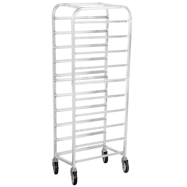 "Winholt SS-1210 End Load Stainless Steel Platter Cart - Ten 12"" Trays Main Image 1"