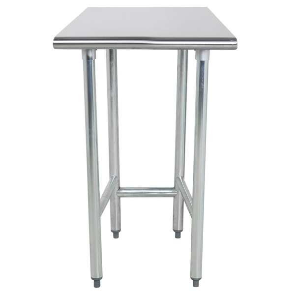 "Advance Tabco TGLG-242 24"" x 24"" 14 Gauge Open Base Stainless Steel Commercial Work Table"