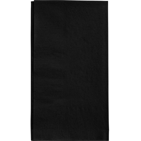 Black Paper Dinner Napkin, Choice 2-Ply Customizable, 15 inch x 17 inch - 1000/Case