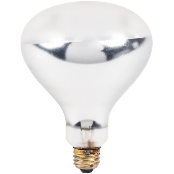 Lavex Janitorial 250 Watt Coated Infrared Heat Lamp Bulb Main Image 1