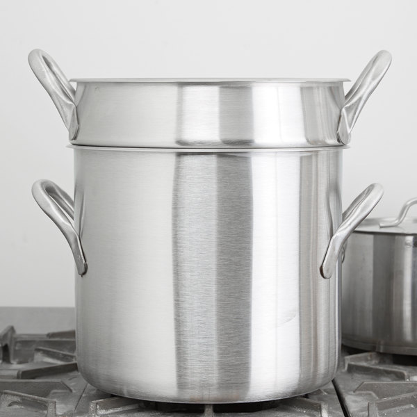 Vollrath 78610 Classic 20 Qt Stainless Steel Stock Pot Double Boiler