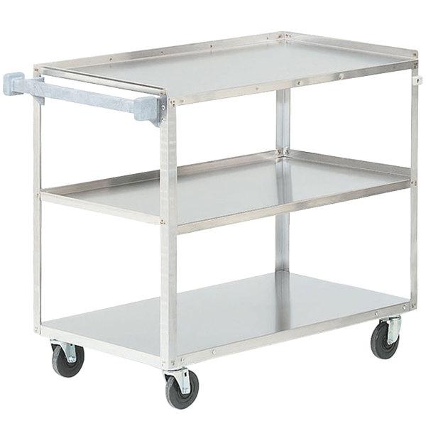 "Vollrath 97140 Stainless Steel 3 Shelf Utility Cart - 39 1/2"" x 21"" x 33 1/4"""