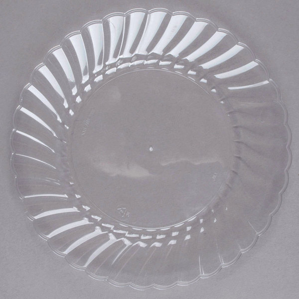 WNA Comet CW6180 Classicware 6 inch Clear Plastic Plate - 18/Pack