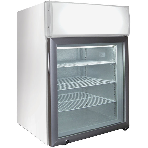 Excellence CTF-2MSHC White Countertop Display Freezer with Swing Door - 1.8 cu. ft. Main Image 1