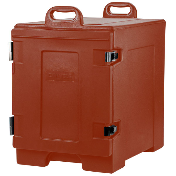 Carlisle PC300N95 Cateraide™ Brick Red Front Loading Insulated Food Pan Carrier - Holds 5 Pans