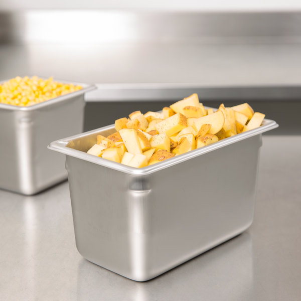 """Vollrath 30462 Super Pan V® 1/4 Size Anti-Jam Stainless Steel Steam Table / Hotel Pan - 6"""" Deep"""