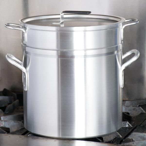 Vollrath 67717 Wear-Ever 17.5 Qt. Aluminum Double Boiler Set Main Image 3