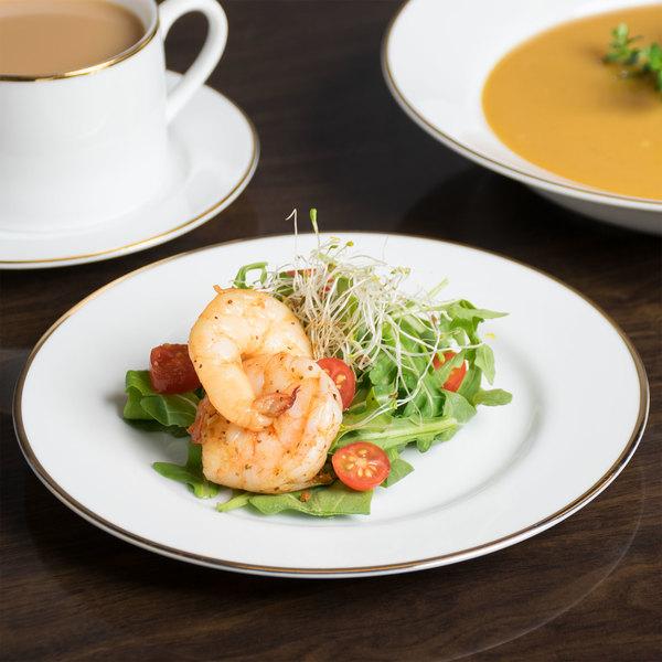 "10 Strawberry Street GL0004 7 3/4"" Gold Line Salad / Dessert Plate - 24/Case"