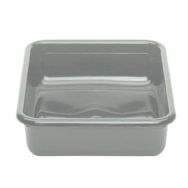 "Cambro 1722CBP180 Cambox 22"" x 17"" x 5"" Light Gray Polyethylene Plastic Bus Tub Main Image 1"