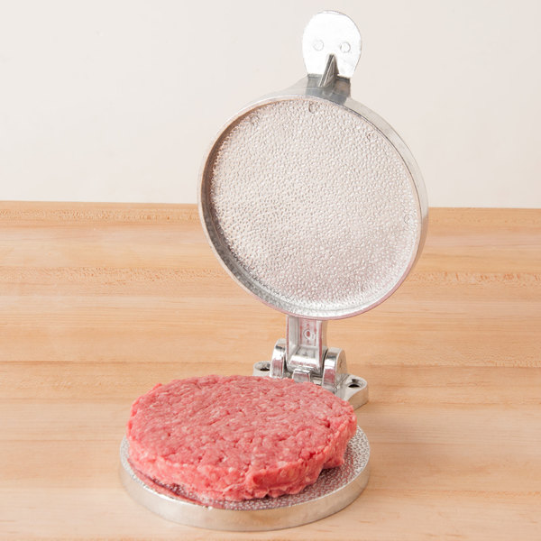 "Cast Aluminum Hamburger Press - 4 1/2"" Diameter"
