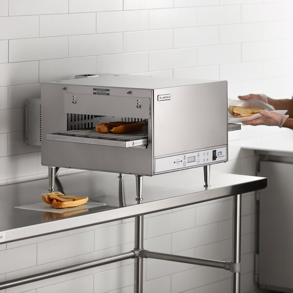 """Lincoln 2502/1346 2500 Series Countertop Impinger (DCTI) Electric Conveyor Oven with Digital Controls and Extended 50"""" Belt - 240V, 6 kW Main Image 6"""