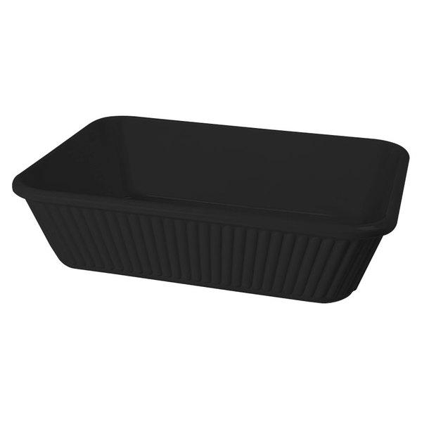 "GET ML-177-BK 3 Qt. 10"" x 8 3/4"" Black Melamine Rectangular Casserole Dish for GET ML-169 Adapter Plate - 3/Case"