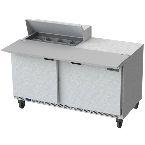 Beverage Air SPEHCC Door Cutting Top Refrigerated - Restaurant prep table cutting boards