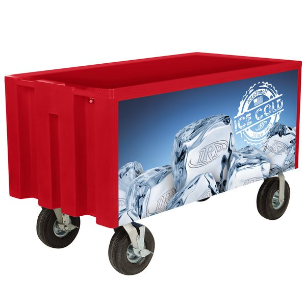 IRP Red Extra Large Super Arctic 080 Mobile 456 Qt. Cooler with Wheels