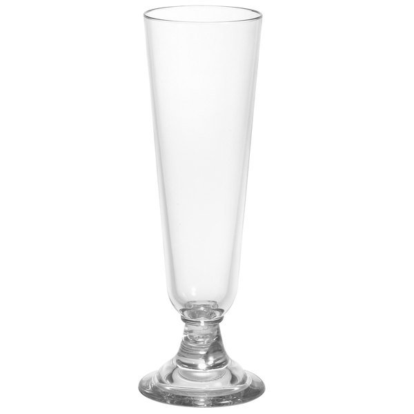 Cambro BWP14CW Aliso 15.5 oz. Plastic Footed Pilsner Glass - 24/Case Main Image 1