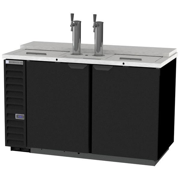 Beverage-Air DD58HC-1-C-B 2 Single Tap Kegerator Beer Dispenser - Black, (3) 1/2 Keg Capacity