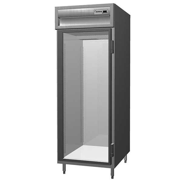 Delfield SAR1S-G Stainless Steel 18 Cu. Ft. One Section Glass Door Shallow Reach In Refrigerator - Specification Line