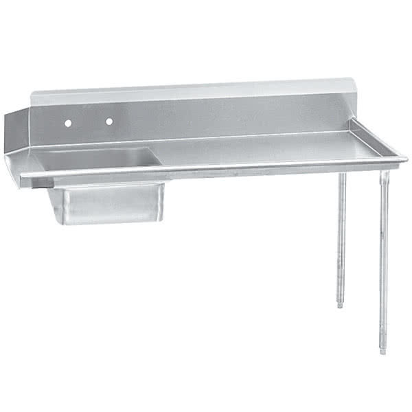Right Drainboard Advance Tabco DTS-S60-48 Super Saver 4' Stainless Steel Soil Straight Dishtable