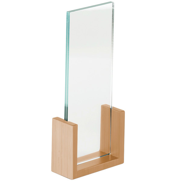 """Cal-Mil 1510-411-60 Bamboo Base 5"""" x 1 1/2"""" x 12"""" Displayette with Acrylic Insert"""