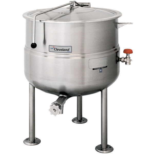 Cleveland KDL-250 250 Gallon Stationary 2/3 Steam Jacketed Direct Steam Kettle Main Image 1