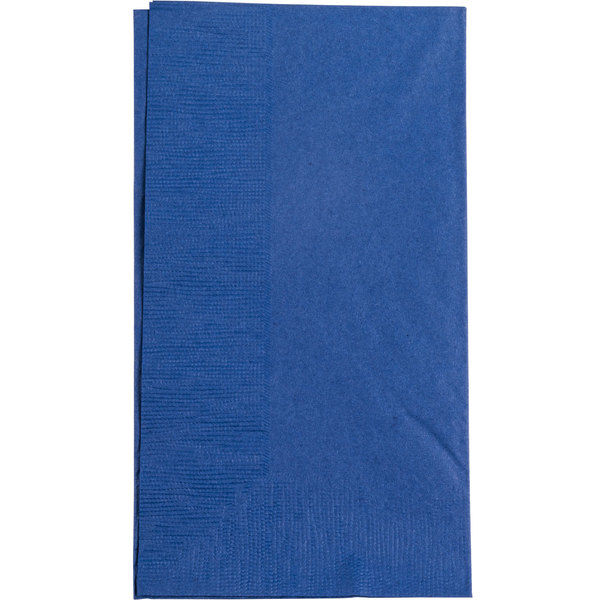 Choice 15 inch x 17 inch Customizable Navy Blue 2-Ply Paper Dinner Napkin - 1000 / Case