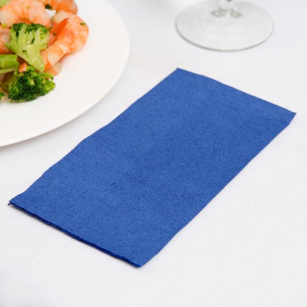 "Navy Blue Paper Dinner Napkins, Choice 2-Ply Customizable, 15"" x 17"" - 1000/Case"